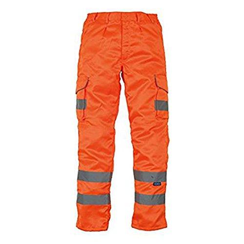 Yoko Hi-Vis Polycotton Cargo Trousers With Knee Pad Pockets Hv018T//3M