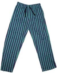 **Bon Marché** Adultes lounge pantalon casual - VERT RAYURE
