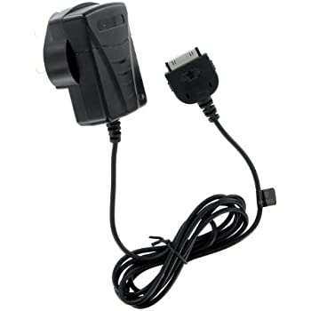 Kit UK Mains Travel Charger Plug with 30-Pin Connection for iPhone 3G, 3GS, 4, 4S, iPad 2, 3, iPod Touch 4th Gen and iPod Nano 6th Gen - Black