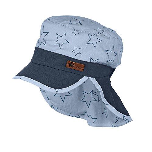 Sterntaler Baby-Jungen Mütze Schirmmütze m. Nackenschutz, Blau (Himmel 325), 47