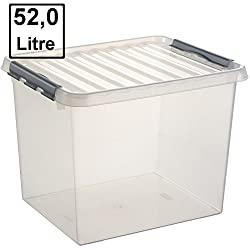6 x SUNWARE Q-Line Box - 52 Liter - 500 x 400 x 380mm - transparent