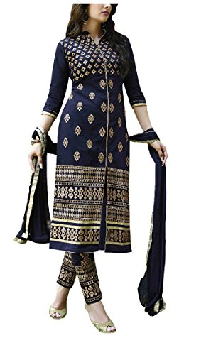 Ruri Enterprise Women's Cotton Patiala Salwar Bottoms Blue Designer Cotton Semi-stitched Salwar...