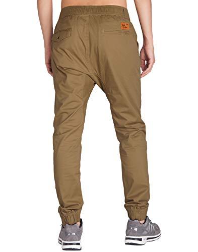 Imagen de italy morn harem pantalones de hombre deporte chinos cargo pantalon skinny joggers casual algodon xl marrón alternativa