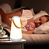 OUSENR Lampe De Table Woodpow Lanterne Rechargeable Sans Fil Portable Réglable Lampe De Table Touch Sensor Control Chargeur Usb Camping Plein Air Veilleuse