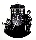 Wanduhr Vinyl LP 33U Instant Karma Geschenk Vintage Handmade–Movie TV Serie–Doctor Dr. Who
