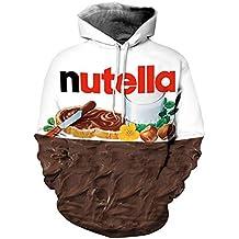 Parejas Unisex Sudadera con Capucha Nutella Impreso en 3D Sudadera de Secado rápido Sudadera con Capucha