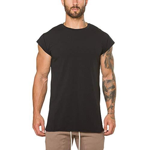 Beonzale Herren Casual Fitnessstudio Crossfit Bodybuilding Fitness Muskel Kurzarm Basic T-Shirt Top Bluse -