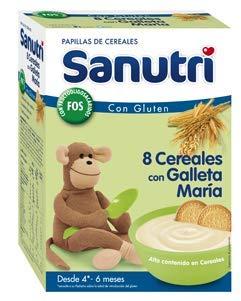 Sanutri Papilla 8 Cereales con Galleta María 600g