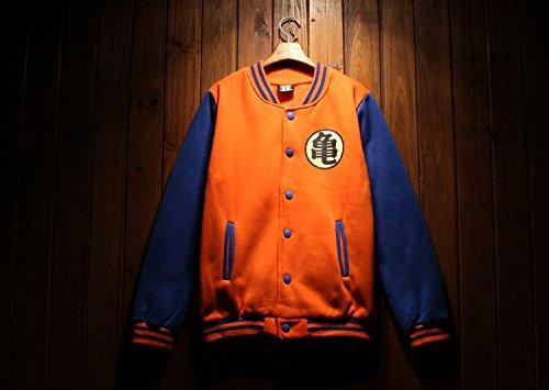 vivian-anime-dragon-ball-veste-en-coton-son-goku-coat-kame-symbol-orange-et-bleu-s-hauteur-150cm-165