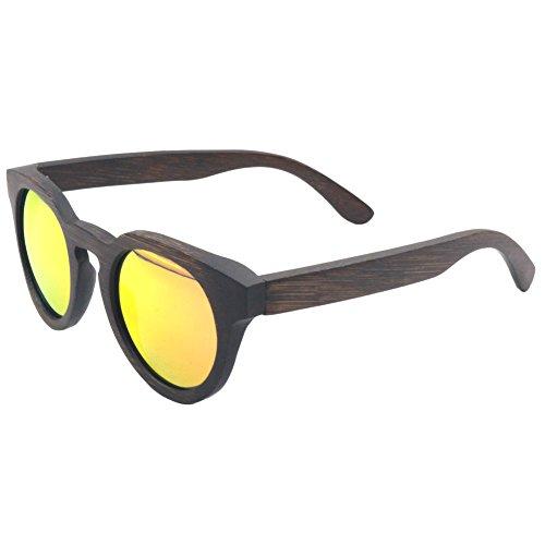 Hölzerne Sonnenbrille Bambus Polarisierte Linse