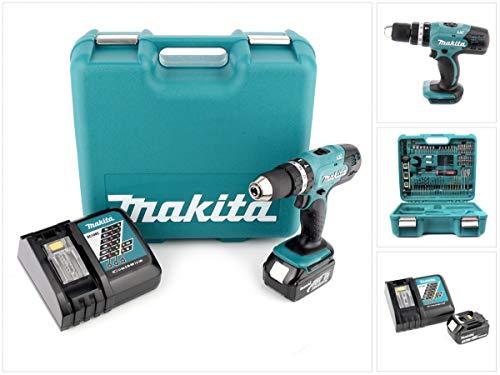 Makita BHP453 RFTK 18V Akku-Schlagbohrschrauber Set incl 1x 3,0AH Akku & 101-teiliges Werkzeug-Set
