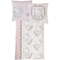 Renforcé Bed Linen 135 x 200 cm Hello Kitty in Retro Design