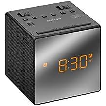 Sony ICF-C1T - Radiodespertador (AM/FM, alarma dual, fecha, pantalla LED), negro
