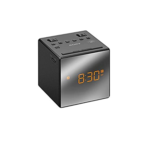 Radio Sony Icf - Sony ICF-C1TB Radio Réveil FM/AM, Double Alarme
