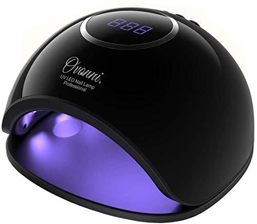 Ovonni Nageltrockner 48W LED/UV Lampe für Nägel Tragbare Nagellampe mit 10/30/60/99s Timer,LCD Display Gelnagellack Maniküre Lichthärtungsgerät,geeignet für alle Gel (Schwarz B)