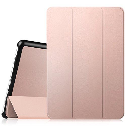 Fintie Hülle für Samsung Galaxy Tab A 9.7 ZollT550N / T555N Tablet-PC - Ultra Schlank Superleicht Ständer SlimShell Cover Schutzhülle Etui mit Auto Schlaf/Wach Funktion, Roségold (Tablet-cover Samsung 7 Für)