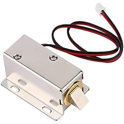 lujiaoshout Profesionales de la pequeña DC 12V Tipo Abierto del solenoide del capítulo para Cerradura eléctrica