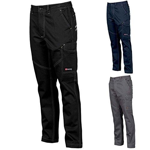 pantaloni da lavoro comodi e confortevoli, multistagione in cotone anche taglie forti sino alla 5 XL (44/46)
