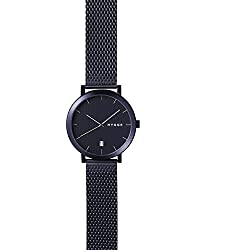 Hygge 2203 Unisex Quartz Watch with Black Dial Analogue Display and Black Stainless Steel Strap MSM2203BC(BK)