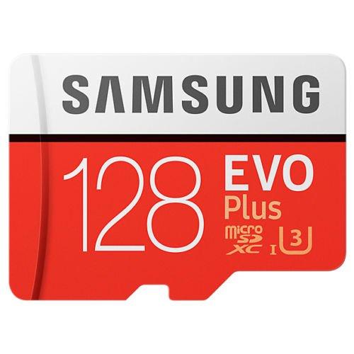 Original OEM Quality Samsung EVO Plus Class 10 128Gb Micro SDXC 100 Mb/s Memory Card with SD Adapter