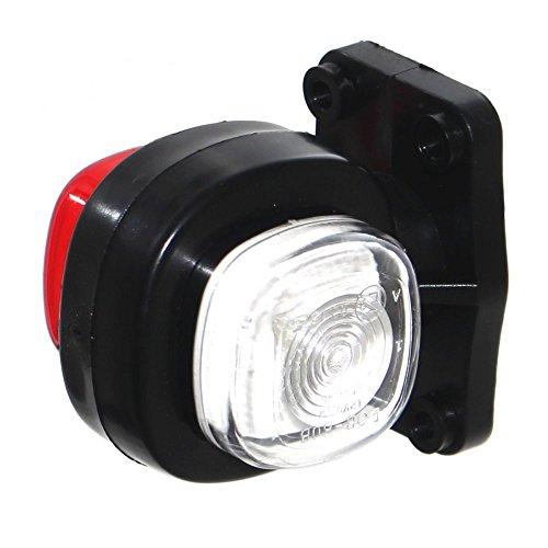 1x LED Begrenzungsleuchte kompakt Markierung Anhänger PKW & LKW Rot Weiß 12V & 24V Leuchte [A++] Neu Old-Harvest