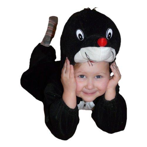 Maulwurf-Kostüm, An47/00 Gr. 80-86, für Babies und Klein-Kinder, -