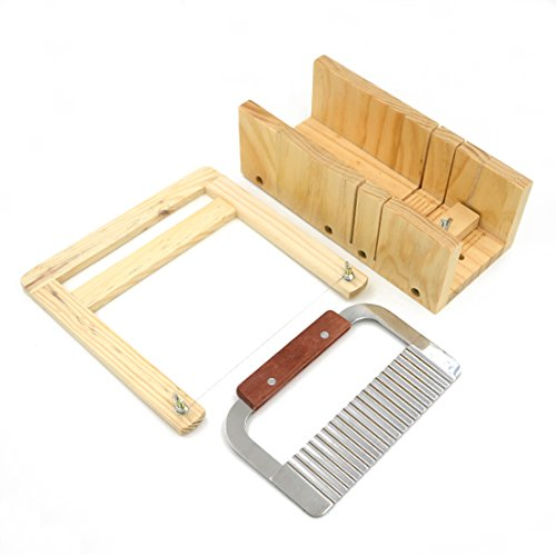 Angelakerry 1pcs Soap Mold Wood Adjustable Cutter Loaf Bar Handmade Bottom lid slicer Process Kit