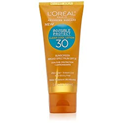 LOreal Paris Advanced Suncare Clear Cool Lotion SPF 30, For All Skin Types, 3.4 Fluid Ounce