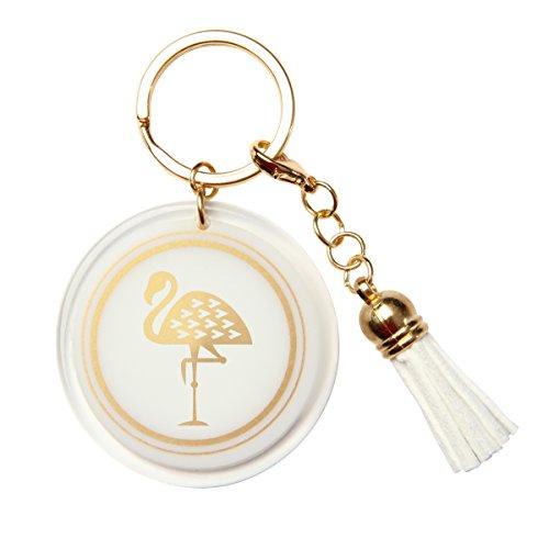 Karma Geschenke Gold Rush Schlüsselanhänger, Flamingo -