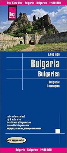 Bulgaria, mapa impermeable de carreteras. Escala 1:400.000 impermeable. Reise Know-How. por VV.AA.