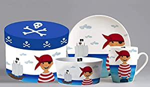 ZIEGFELD FPPA Set de desayuno, unisex, para niños, multicolor, talla única