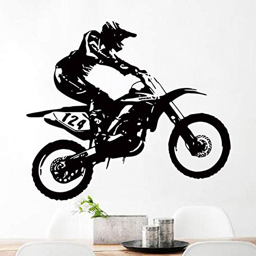 wandaufkleber 3d Wandtattoo Kinderzimmer Aufkleber Halloween Motocross Art - Halloween Wandtattoos