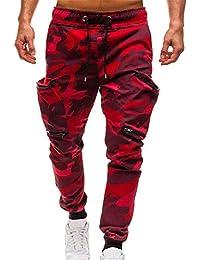 Kword Pantaloni Sportivi Mimetici da Uomo con Coulisse Pantaloni Classici da  Jogging Camo Pantaloni da Lavoro 6ca2c482b01
