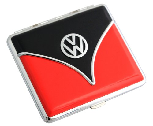 Volkswagen Zigaretten Etui Samba oder Käfer Design Verschiedene Farben (Samba-Schwarz-Rot) -