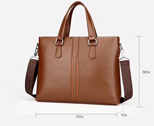 Männer Handtasche Großer Kapazitäts Schultertasche Kuriertasche Horizontale Business Bag Computer Tasche Freizeit Mode Brown4