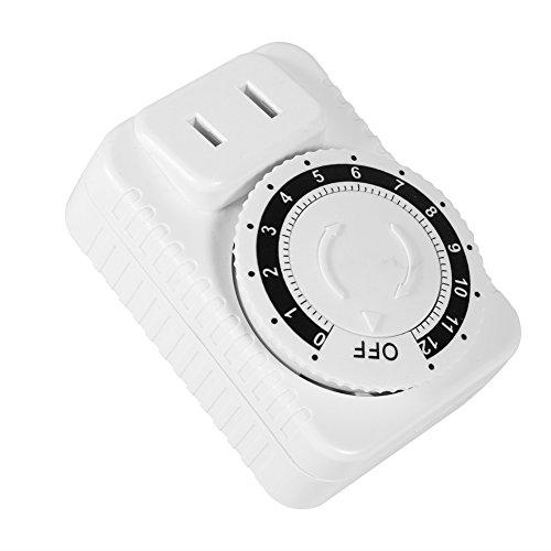 12horas eléctrico mecánica temporizador enchufe temporizador digital cuenta atrás Cronómetro enchufe 2Prong Outlet Indoor Diario Ajustes