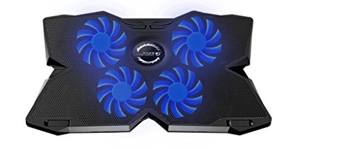 J Heavy Duty [4 Fans] LED Gaming Cooling Pad [Suitable for upto 15 inch Laptops] Black