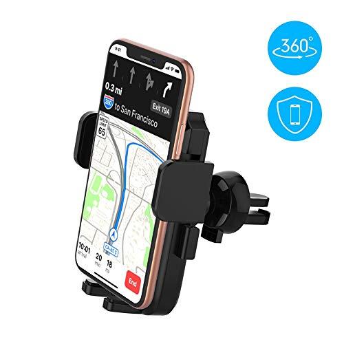 Yoozon Handyhalterung Auto Lüftung, 360°Drehbar Auto Handyhalter,  Smartphone KFC Halterung für iPhone XS MAX/XR/XS/X/ 8/ 8Plus/ 7/  7Plus,Samsung