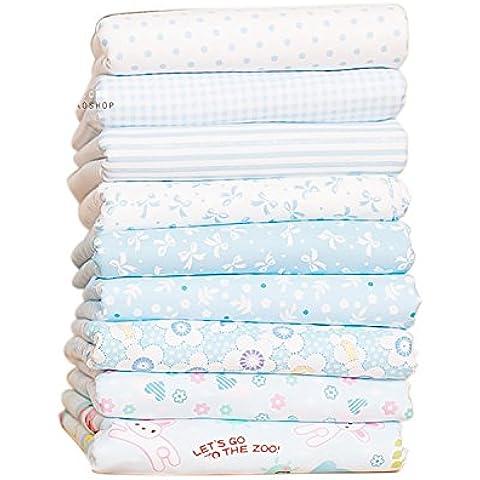 Shi Tong tamaño pequeño de tela de algodón que acolcha twistfix smartphonez Patchwork y manualidades con tamaño 24 x 24 cm Color azul