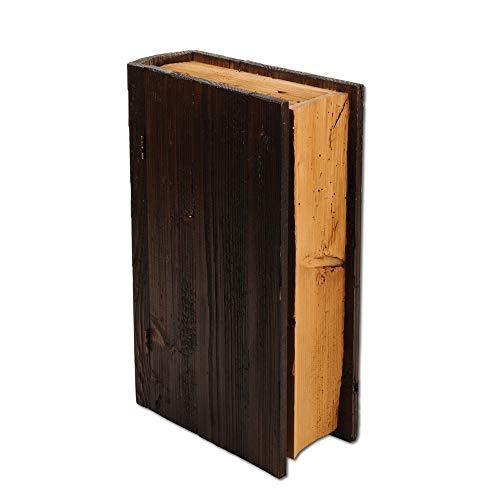 Weinbox aus Holz in Buchform für zwei Flaschen Wein