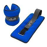 #DoYourFitness® 2Stück Handgewichte & Fußgewichte (0,5kg 1kg 1,5kg 2kg 3kg) - weiche Oberfläche / guter Tragekomfort - Knöchelgewichte / Gewichtsmanschetten für Hand- & Fußgelenke 0,5kg / blau&schwarz