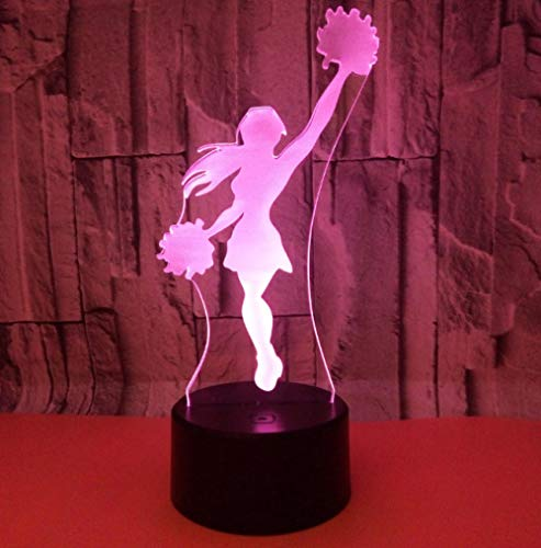 ZJFHL Neue Cheerleader 3d Licht Remote Touch Bunte 3d Lichter Kreative Geschenk Tischlampen Für Wohnzimmer Tisch Moderne Schreibtischlampe