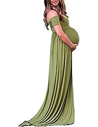 5fcb97b7b1ea Huixin Ladies Women Modern Pregnant Photo Shoot Maniche Lunghe Costume Abiti  Risvolto da Donna Maternity Photography