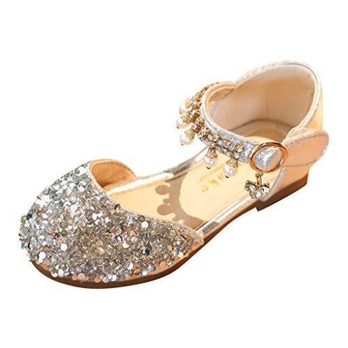 Mädchen Schuhe Prinzessin Kinder Ballet Schuhe Partei Ballerina Glitzer Schmetterling Perlen Pailletten Sandalen Cinderella ELSA Cosplay Kostüm Karneval Party Aufführung Fasching 25-35
