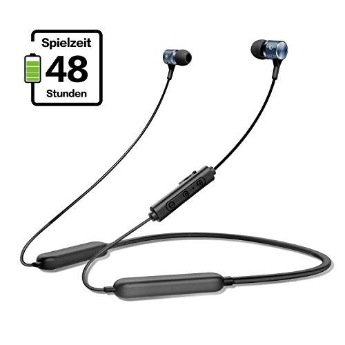 gorsun Bluetooth 5.0 Kopfhörer in Ear, 48 Stunden Spielzeit, IPX5 Wasserdicht Sportkopfhörer, Magnetisches Ohrhörer mit Mikrofon