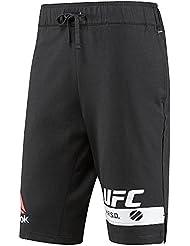 Reebok Fg M Pantalón Corto UFC Ultimate Fighting Championship, Hombre, Negro (Negro), XL