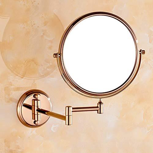 CKH Kupfer Rose Gold Make-up Spiegel Badezimmer Badezimmer Double Side 3X Vergrößerungsspiegel