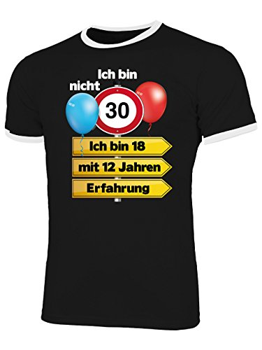 Ich Bin Nicht 30 Ich Bin 18 mit 12 Jahren Männer Herren T Shirt Geschenke Geburtstag Ideen Happy Birthday Artikel Papa Vater Freund Bruder Kollege (30. Geburtstag Party-ideen Für Ihn)