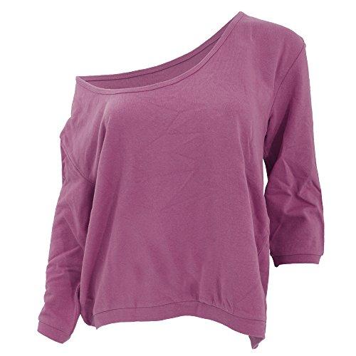 B&C Paradise Rising Sun - Sweatshirt à manches 3 quarts et col en V - Femme Rose