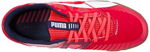 Puma evoSPEED Sala Herren Fußballschuhe Rot (bright plasma-white-peacoat 05)